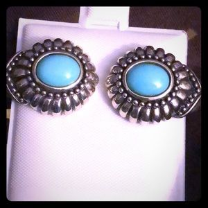 Vintage Sterling Silver Turquoise Earrings - NWT